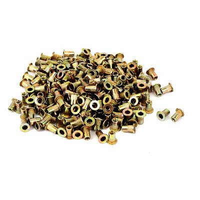 M3x9mm Open End Flat Head Knurled Body Blind Threaded Rivet Nut 300pcs