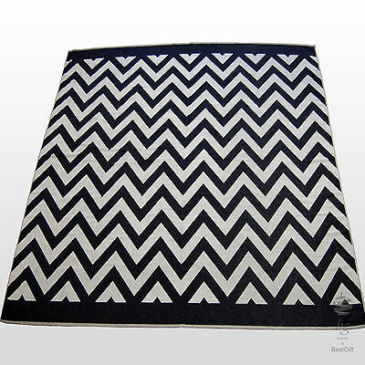 Extra Large Striped Beach Towel Bath Sheet Holiday Towels - White And Navy Blue