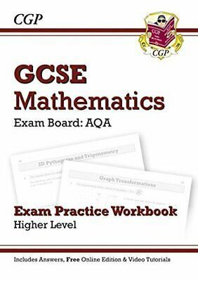 GCSE Maths AQA Exam Practice Workbook with answers and online ed... by CGP Books