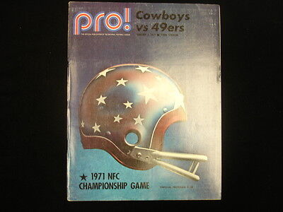 January 2, 1972 Dallas Cowboys vs. San Francisco 49ers NFC Championship Program