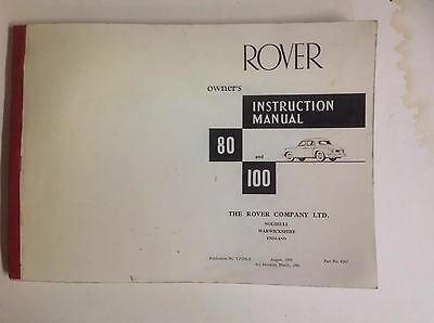 Orig. Rover 80 & 100 Owners manual photograph proofs March 1961