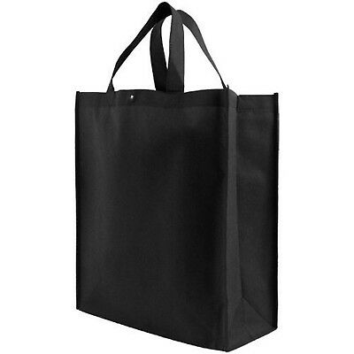 Reusable Grocery Tote Bag Large 10 Pack - Black New