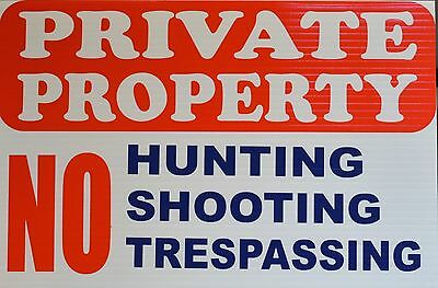 Private Property - No Hunting, Shooting or Tresspassing - A201