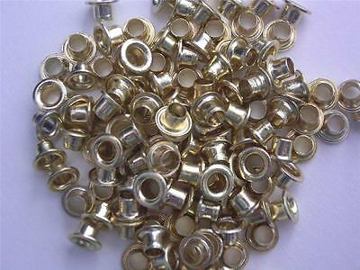 "1/8"" eyelets GOLD pk of 50 round scrapbooking craft eyelet card making christmas"