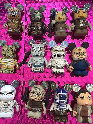 "Disney Vinylmation 3"" Star Wars Series 4 Complete Set of 12 with Wampa Chaser"