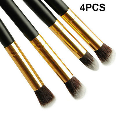 Pro Makeup Cosmetic Tool Eyeshadow Eye Shadow Foundation Blending Brush Set 4PCS