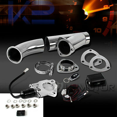 """2.5"""" Electric Exhaust Downpipe Cutout/E-Cut Out ByPass Valve+Remote Switch"""
