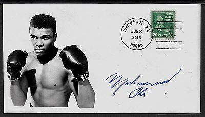 Ltd. Edition Muhammad Ali Boxing Champ Commemorative Envelope repro auto.
