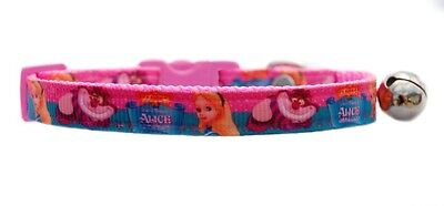 Pink Alice in wonderland   safety kitten cat collar bell