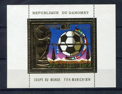 s5100) DAHOMEY 1974 MNH** WC Football - Coppa Mondo Calcio S/S GOLD