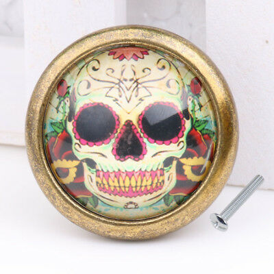 Skull Cupboard Door Knob Wardrobe Drawer Pull Handle Cabinet Hardware #02