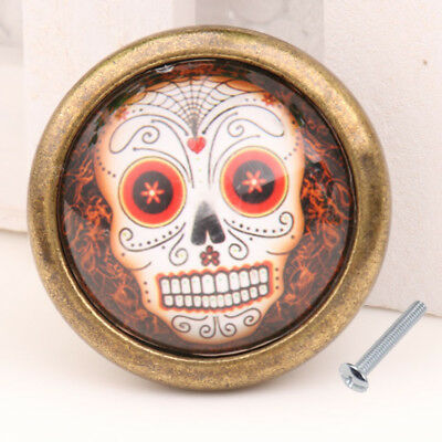 Skull Cupboard Door Knob Wardrobe Drawer Pull Handle Cabinet Hardware #03
