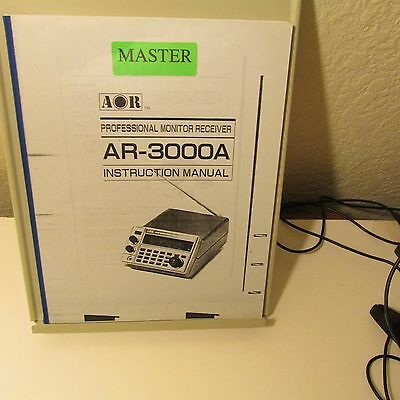 Aor Ar3000A  Receiver   Instruction Manual,53 Pages,  Copy