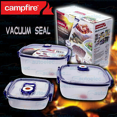 Campfire 3Pc Vacuum Seal Food Storage Containers Container Set 526012
