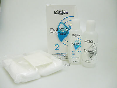 L'OREAL DULCIA ADVANCED No 2 Sensitised Hair FREE PERM KIT Papers Cap Neck Wool