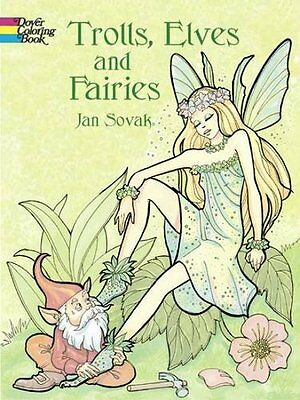 Coloring Book For Adults Kids Fairies Elves Design Stress Relieving Relax Fun