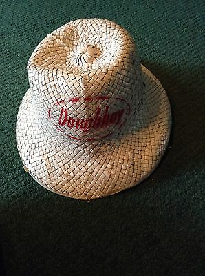 Vintage Doughboy White Wicker Hat Antique Unusual Rare