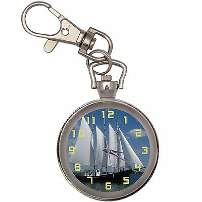 New Ship At Sea Key Chain Keychain Pocket Watch