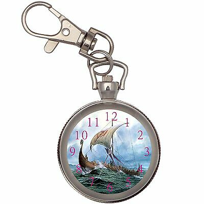 New Viking Boat Key Chain Keychain Pocket Watch