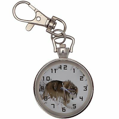 New Wolfdog Key Chain Keychain Pocket Watch