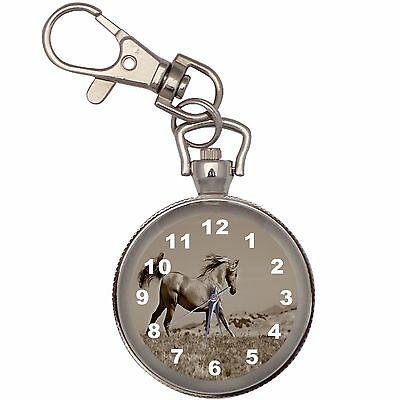 New Desert Rose Key Chain Keychain Pocket Watch