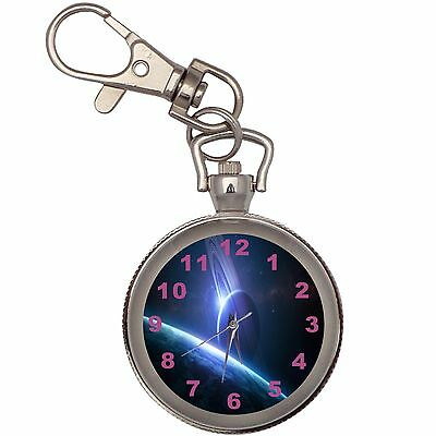 New Earth And Moon Key Chain Keychain Pocket Watch