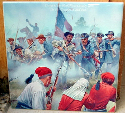 American Civil War - Confederate charge on the ZOUAVES~BULL RUN~ CERAMIC TILE