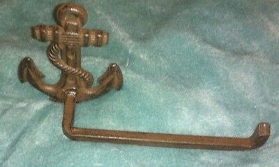 Cast Iron Rustic Nauticle Towel Anchor Towel Bar