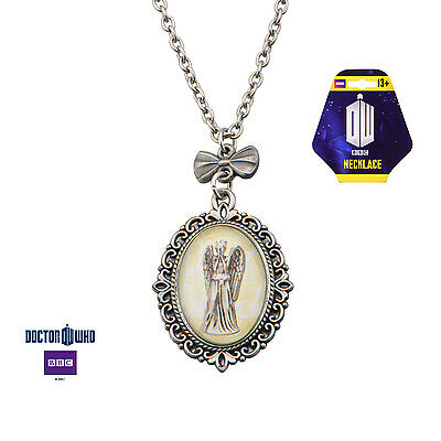 Official Doctor Who - Weeping Angel Cameo Necklace/Pendant - Free Shipping