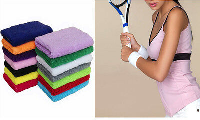 New Sports Wrist Sweatbands Tennis Squash Badminton GYM Wristband