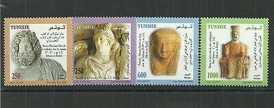2005- Tunisia- Sculptures from the Punic and Roman Eras- Complete set 4v. MNH**