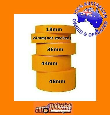 """6 Rolls Trade Quality High Temp. Masking Tape 36Mm (1.5"""") For Auto Spraypainters"""
