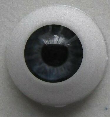 Reborn doll eyes 22mm Half Round NEWBORN GREY