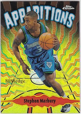 1999-00 Topps Chrome Apparitions Refractor #a2: Stephon Marbury #88/100 Wolves