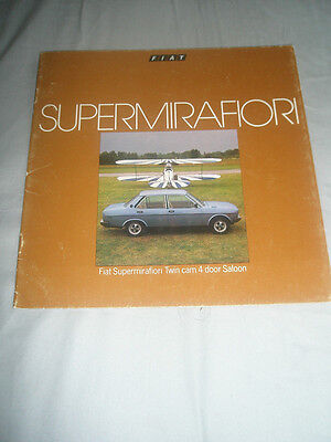 Fiat Supermirafiori Twin Cam 4 Door Saloon brochure Jul 1978