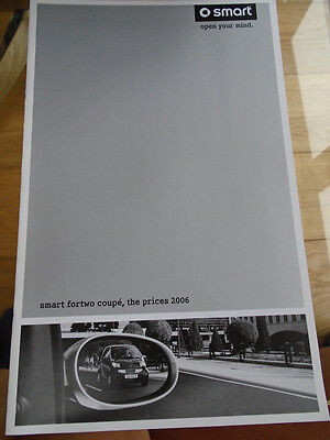 Smart Fortwo Coupe Price List brochure 2006