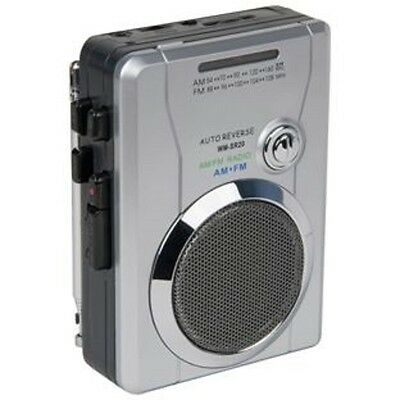 BUSH Portable Cassette Walkman Recorder with AM/FM Radio and Auto Reverse -