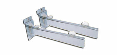 Chrome Glass Shelf Bracket With Suction Pads Slatwall Slat|Slot|Wall Display