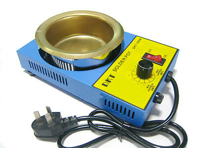 AC 220V 300W 100MM Solder Pot tin melting Furnace Titanium Free Soldering Melter
