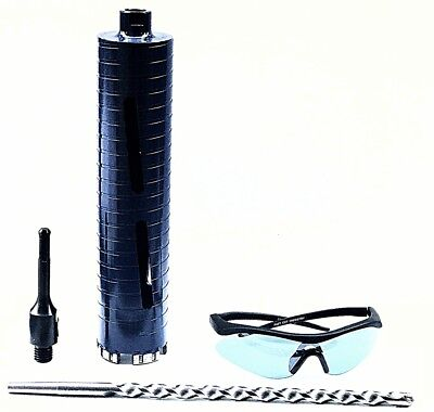 "3.5"" Dry Diamond Core Drill Bit for Concrete with SDS Plus Adapter & guide"