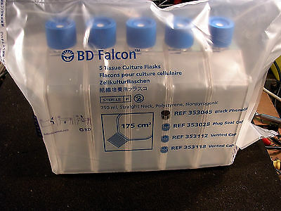 BD Falcon Tissue Culture Flasks with Vented Cap, Sterile