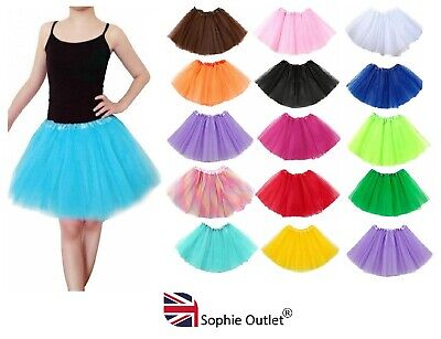 GIRLS TUTU 3 Layer Skirt Fancy Dress Skirts Ballet Dance Party Book Day Costume