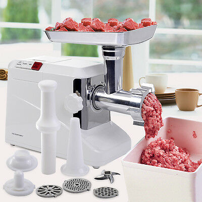 Professional Meat Grinder 2000 Watt Electric Machine Burger Beef Sausage Maker