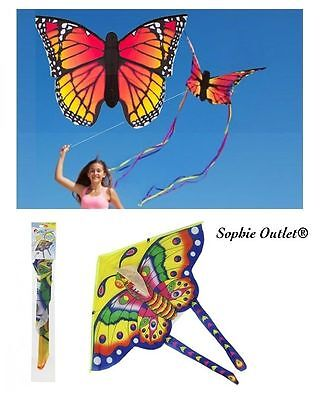 Childrens Butterfly Flying Kite Kids Line Kites Outdoor Park Beach Fun Toy Gift