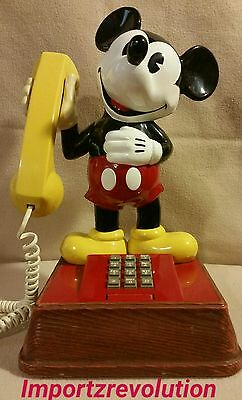 Mickey Mouse Phone Vintage 1976