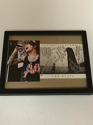 Asking Alexandria Autographed Signed Framed Cd Cover With Signing Picture Proof