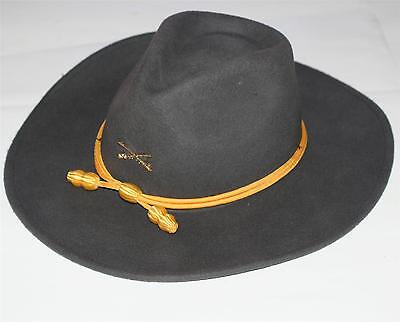 CONFEDERATE CSA REBEL Civil War Cavalry Crossed Sabers OFFICERS SLOUCH WOOL HAT