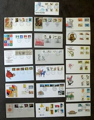 20 Different Unaddressed Australia Decimal Complete Stamp Sets First Day Covers