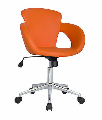 SixBros. Design Rollhocker Hocker Arbeitshocker Bürostuhl Orange M-65335-1/2136