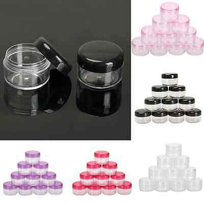 Mini 10Pcs 5g Cosmetic Empty Jar Pot Eyeshadow Makeup Face Cream Container Box A